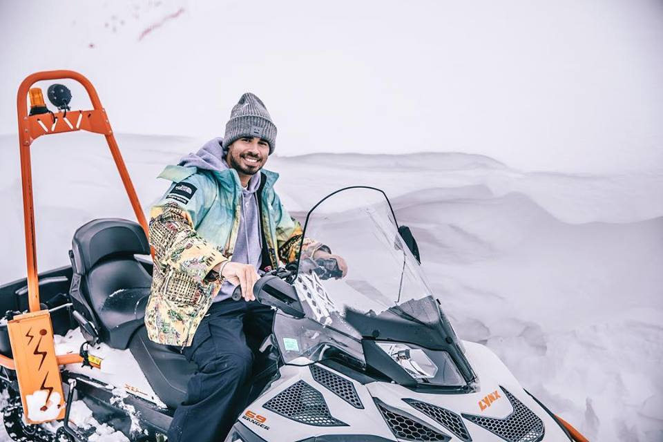 Afrojack snow mobile