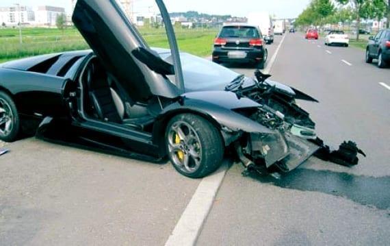 Afrojack Lambo crash
