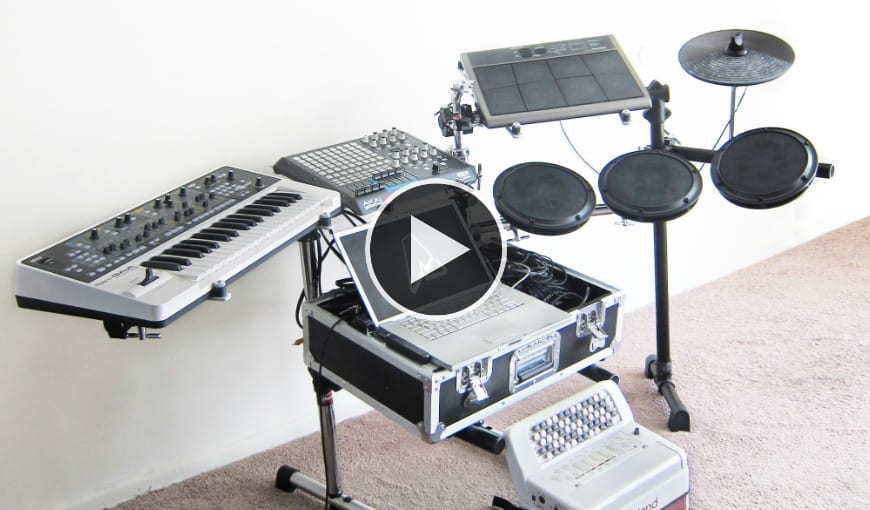 ALPINE UNIVERSE EXPLAINS THE LIVE SET-UP FOR HIS SYMPHONIC-ELECTRO SOUND