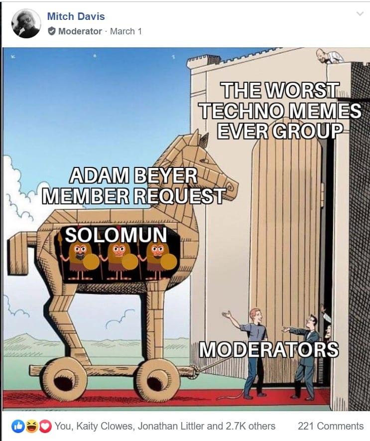 mitch davis trojan horse meme