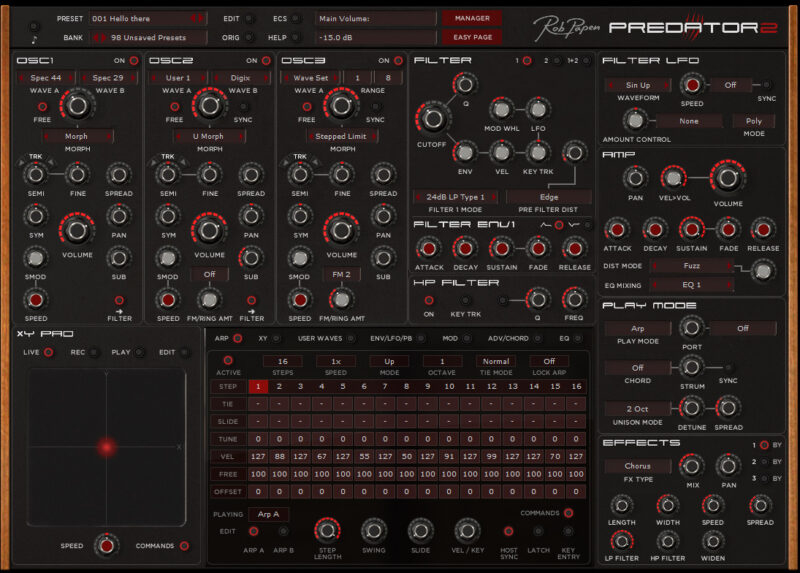 Predator 2 Synth by Rob Papen