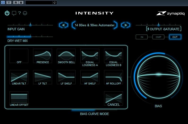 Zynaptiq Intensity BIAS curves