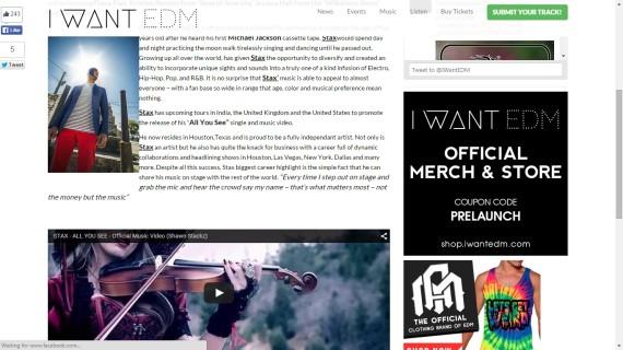 I Want EDM PR